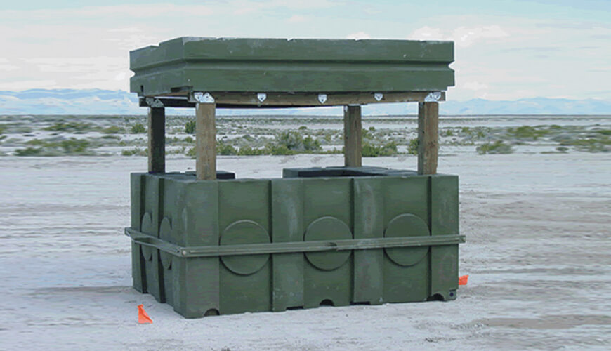 Rotationally Molded Defense Product, Rotomolded Bunker, Rotationall Moulded Defense Bunker, Rotomoulded Military Bunker